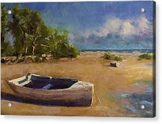 Beached Acrylic Print by David Patterson