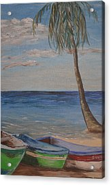 Beached Acrylic Print by Debbie Baker