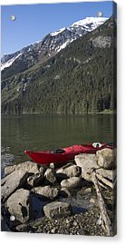 Beached Kayak In Alaska Acrylic Print