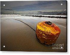 Beached Mooring Buoy Acrylic Print
