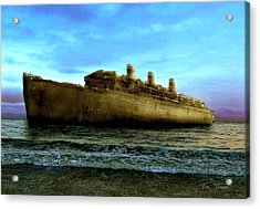 Beached Wreck Acrylic Print by Tom Straub
