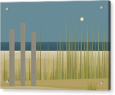 Beaches - Fence Acrylic Print