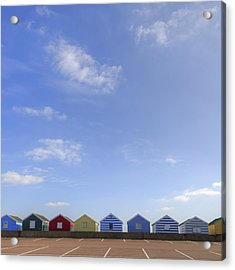 Beachhuts Acrylic Print