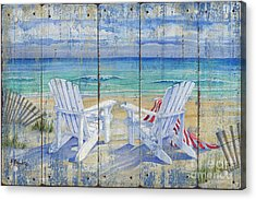 Beachview Distressed Acrylic Print by Paul Brent
