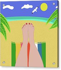 Beachy Keen Acrylic Print by Nicole Wilson