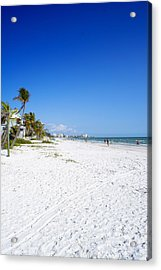 Beachy White Sands Acrylic Print