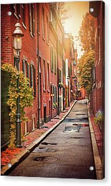 Beacon Hill Area Of Boston  Acrylic Print by Carol Japp