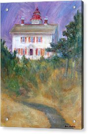Beacon On The Hill - Lighthouse Painting Acrylic Print by Quin Sweetman