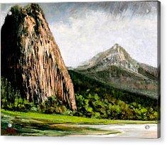 Beacon Rock Washington Acrylic Print by Jim Gola