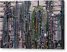 Beads On Iron Wrought Fench Acrylic Print by Garry Gay