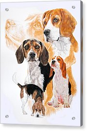 Beagle W/ghost Acrylic Print by Barbara Keith
