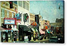 Beale Street Blues Acrylic Print by Suzanne Barber