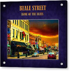 Beale Street - Home Of The Blues Acrylic Print