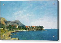 Acrylic Print featuring the painting Bealieu - The Bay Of Fourmis by Eugene Boudin