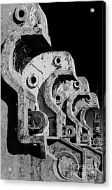 Acrylic Print featuring the photograph Beam Bender - Bw by Werner Padarin