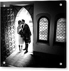Beaming Newlyweds Acrylic Print