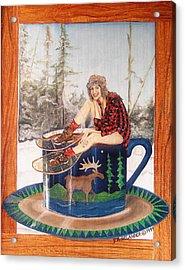 Bean On The Gunflint Acrylic Print by Peggy Selander