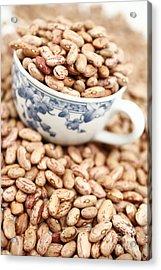 Beans In A Cup Acrylic Print by Gaspar Avila