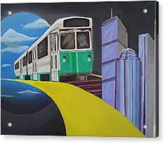 Beantown Transit Acrylic Print by Michael Holmes