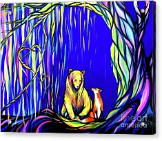 Bear And Fox  Acrylic Print by Abbi Kay