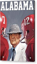 Bear Bryant Acrylic Print by Mark Spears