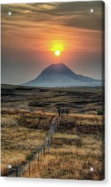 Acrylic Print featuring the photograph Bear Butte Smoke by Fiskr Larsen