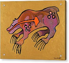 Acrylic Print featuring the painting Bear Deity by Bob Coonts