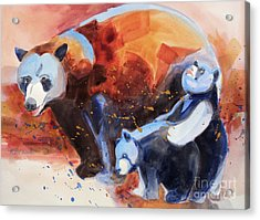 Bear Family Outing Acrylic Print by Kathy Braud