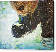 Bear Fishing Acrylic Print