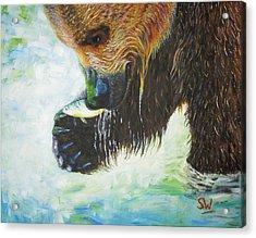 Bear Fishing Acrylic Print