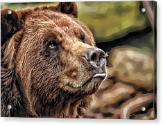 Acrylic Print featuring the photograph Bear Kiss by Kathy Tarochione