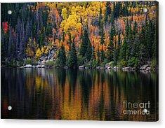 Bear Lake Autumn Reflections Acrylic Print