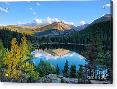Bear Lake Reflection Acrylic Print by Ronda Kimbrow