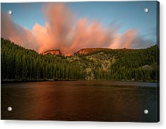 Acrylic Print featuring the photograph Bear Lake's Hallett Peak #1 by John Gilbert
