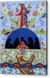 Acrylic Print featuring the painting Bear Medicine by Chholing Taha