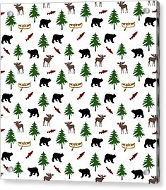Bear Moose Pattern Acrylic Print