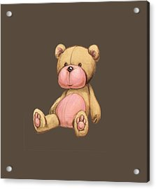 Bear Pink Acrylic Print by Andy Catling