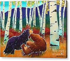 Bear Play Acrylic Print by Harriet Peck Taylor