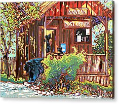 Bear Post Acrylic Print