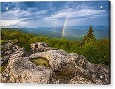Bear Rocks Rainbow Acrylic Print