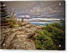 Bear Rocks Storm Acrylic Print