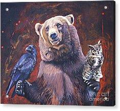 Bear The Arbitrator Acrylic Print by J W Baker