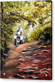 Bear Wallow Rider Acrylic Print by Phil Burton