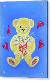 Bear With Flowers Acrylic Print