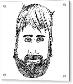Bearded Man Acrylic Print by Karl Addison