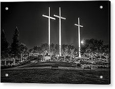 Bearing Witness In Black-and-white 2 Acrylic Print