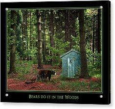 Bears Do It Acrylic Print by Judi Quelland