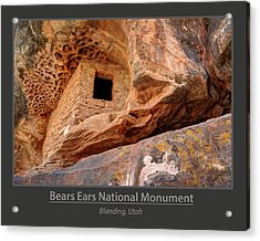 Bears Ears National Monument - Anasazi Ruin Acrylic Print by Gary Whitton