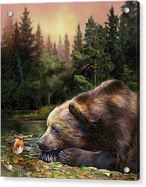 Acrylic Print featuring the mixed media Bear's Eye View by Carol Cavalaris
