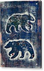 Bears In Blue  Acrylic Print